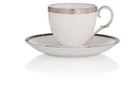 """Чашка кофейная с блюдцем Noritake """"Рочель,платиновый кант"""" 90мл"""