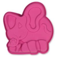 Форма слоник 12х12 см, выс. 3 см, малиновый, серия Marty for Party, SILIKOMART, Италия