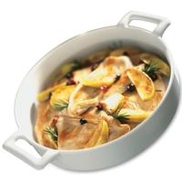 Блюдо круглое, dia 18,5 см, h 5,5 см, цвет белый, фарфор, серия Belle Cuisine, REVOL, Франция