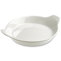 Сковорода для запекания с ручками 18 см, цвет белый, фарфор, серия Cuisson, REVOL, Франция