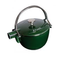 Чайник круглый, 16,5 см, 1,15 л, зеленый базилик