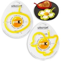 Набор для яичницы 2 штуки, цвет желтый, SILIKOMART, Италия