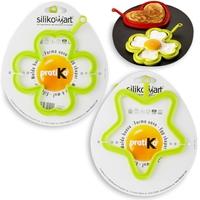 Набор для яичницы 2 штуки, цвет салатовый, SILIKOMART, Италия