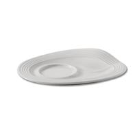 Блюдце для стакана капучино, 17,5х13,5х2,5 см, цвет белый, Froisses, серия Froisses, REVOL, Франция