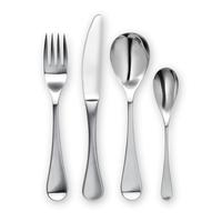 Набор столовых приборов детский, 4 предмета, матовая сталь 18/10, ROBSA1080V/4, серия RW II Satin, ROBERT WELCH, Великобритания