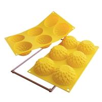 Форма для выпечки георгины, d 78 мм, h 40 мм, 6 шт, желтый, серия Fancy&Function, SILIKOMART, Италия