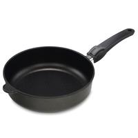 Сковорода глубокая, dia 24 см, h 7 см, съемная ручка, литой алюминий с антипригарным покрытием, толщина дна - 10 мм, серия Frying Pans, AMT, Германия