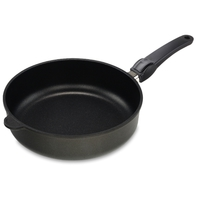 Сковорода глубокая, dia 26 см, h 7 см, съемная ручка, литой алюминий с антипригарным покрытием, толщина дна - 10 мм, серия Frying Pans, AMT, Германия