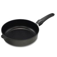 Сковорода глубокая dia 24 см, h 7 см, для индукционных плит, съемная ручка, литой алюминий с антипригарным покрытием, толщина дна - 10 мм, серия Frying Pans Titan, AMT, Германия