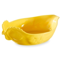 Блюдо в форме курицы 34х22х7 см, цвет желтый, фарфор, серия Happy cuisine, REVOL, Франция
