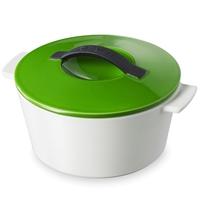 Кастрюля с крышкой круглая 3,4 л, цвет зеленый, серия Revolution, REVOL, Франция
