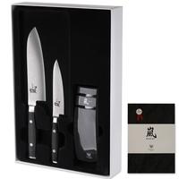 Набор ножей 3 предмета, (2 ножа и точилка), дамасская сталь, серия Ran, YAXELL, Япония