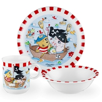 Сервиз детский 3 предмета, Pitzelpatz (кружка, тарелка 20 см, салатник 16 см), серия Kinderseries, SELTMANN, Германия