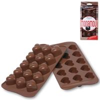 Форма силиконовая для приготовления льда и шоколада сердечки, 15 ячеек, серия Easy Choc, SILIKOMART, Италия