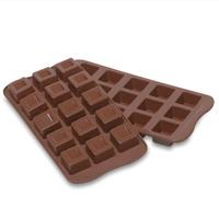 Форма силиконовая для приготовления льда и шоколада кубики, 15 ячеек, серия Easy Choc, SILIKOMART, Италия