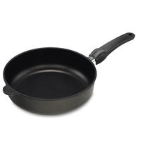 Сковорода глубокая dia 28 см, h 7 см, для индукционных плит, съемная ручка, литой алюминий с антипригарным покрытием, толщина дна - 10 мм, серия Frying Pans Titan, AMT, Германия