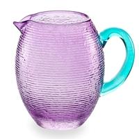 Кувшин для воды 1,5 л, цвет аметист/бирюза, стекло, ручная работа, серия Multicolor, IVV, Италия