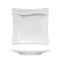 Тарелка квадратная 20х20 см, цвет белый, серия Pleasure, BAUSCHER, Германия