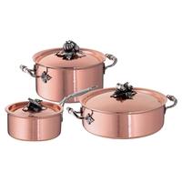 Набор посуды 3 предмета: кастрюля 3,5 л, ковш 1,6 л, сотейник 5 л, серия Opus Cupra, RUFFONI, Италия