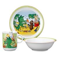 Сервиз детский 3 предмета, Tabaluga (кружка, тарелка 20 см, салатник 16 см), серия Kinderseries, SELTMANN, Германия