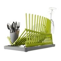 """Сушилка для посуды """"High&dry"""", материал: полипропилен, нержавеющая сталь, размер: 43,5 x 28,5 x 25, цвет:зеленый, BLACK+BLUM, Великобритания"""