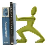 Держатель для книг James, материал: синтетический каучук, сталь,  размер: 21,5 x 19 x 6 см, цвет: зеленый, BLACK+BLUM, Великобритания