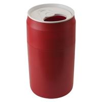 Корзина для мусора Capsule, материал: пластик, размер: 46 х 25 см,  цвет: красный, QUALY, Таиланд