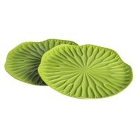 Набор подставок под бокалы Lotus, 2 предмета, материал: пищевой пластик, цвет: зеленый, QUALY, Таиланд