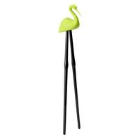 Палочки для суши Master Crane, материал: пищевой пластик, силикон, размер: 22,5 х 4,2 х 5,5 см, цвет: зеленый, QUALY, Таиланд