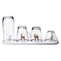 Сушка для бокалов и стаканов Animal Parade, материал: пластик, цвет: белый, QUALY, Таиланд