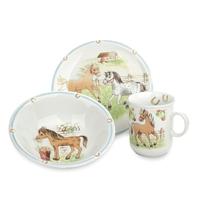 Сервиз детский 3 предета, Mein Pony  (кружка, тарелка 20 см, салатник 16 см), серия Kinderseries, SELTMANN, Германия