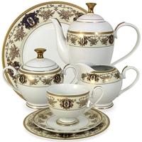 "Сервиз чайный ""Султан"", 42 предмета, на 12 персон, материал: фарфор, MIDORI, Китай"