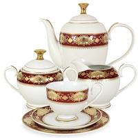 """Сервиз чайный """"Жаклин"""", 23 предмета, на 6 персон, материал: фарфор, MIDORI, Китай"""