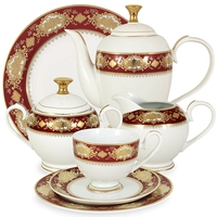 """Сервиз чайный """"Жаклин"""", 42 предмета, на 12 персон, материал: фарфор, MIDORI, Китай"""