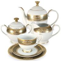 "Сервиз чайный ""Киото"", 23 предмета, на 6 персон, материал: фарфор, MIDORI, Китай"