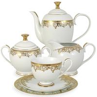 """Сервиз чайный """"Джуна"""", 23 предмета, на 6 персон, материал: фарфор, MIDORI, Китай"""