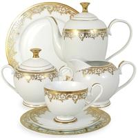 """Сервиз чайный """"Джуна"""", 42 предмета, на 12 персон, материал: фарфор, MIDORI, Китай"""