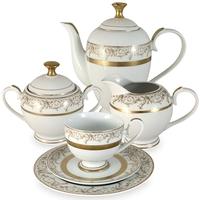 "Сервиз чайный ""Лейла"", 23 предмета, на 6 персон, материал: фарфор, MIDORI, Китай"