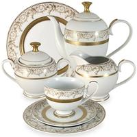 "Сервиз чайный ""Лейла"", 42 предмета, на 12 персон, материал: фарфор, MIDORI, Китай"
