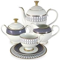 """Сервиз чайный """"Адмиралтейский"""", 23 предмета, на 6 персон, материал: фарфор, MIDORI, Китай"""