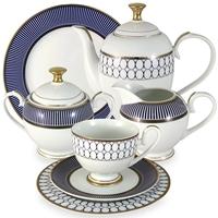 """Сервиз чайный """"Адмиралтейский"""", 42 предмета, на 12 персон, материал: фарфор, MIDORI, Китай"""