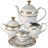 "Сервиз чайный ""Эсмеральда"", 23 предмета, на 6 персон, материал: фарфор, MIDORI, Китай"
