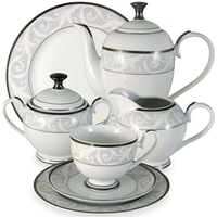 "Сервиз чайный ""Шарлиз"", 42 предмета, на 12 персон, материал: фарфор, MIDORI, Китай"