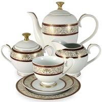 "Сервиз чайный ""Мадлен"", 23 предмета, на 6 персон, материал: фарфор, MIDORI, Китай"