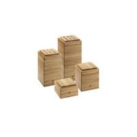 Набор подставок и контейнеров, бамбук, 4 шт.